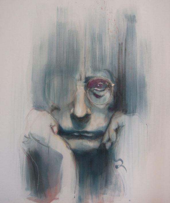 portrait of writer Manos Eleu8eriou
