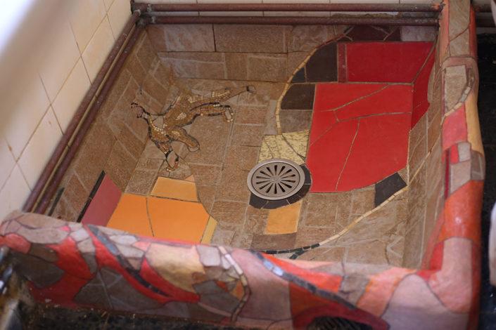 bathroom mosaic, Syros, Cyclades
