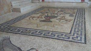 mosaic at the monastery of st Gerasimos of the Jordan, Palestine
