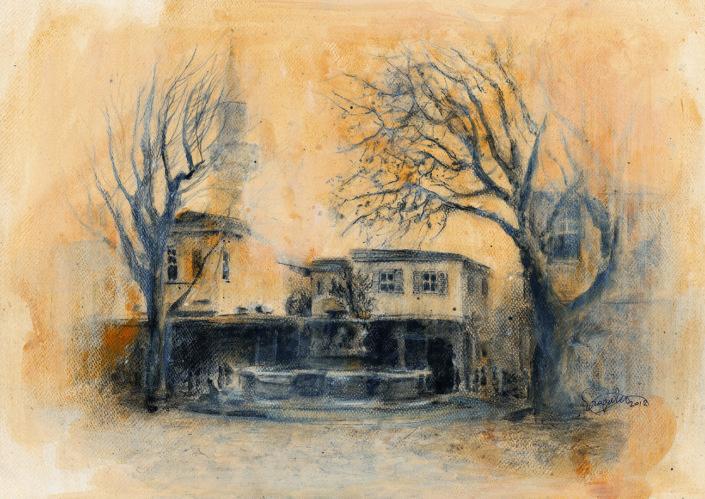 the Four Lion's square, 2/12 -original in possession of Lato Boutique Hotel, Heraklion, Greece)