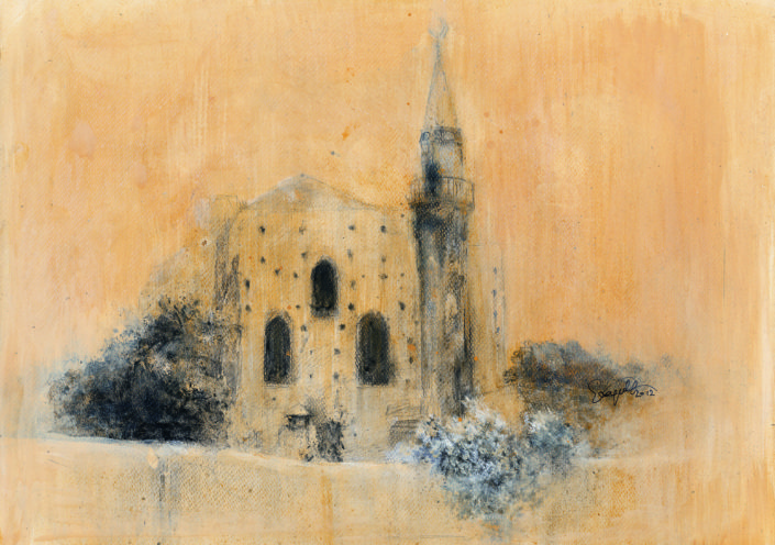 monastery of the temple of the savior of Augustinians as an Otooman mosque (Valide Sultan mosque), 11/12 -original in possession of Lato Boutique Hotel, Heraklion, Greece)