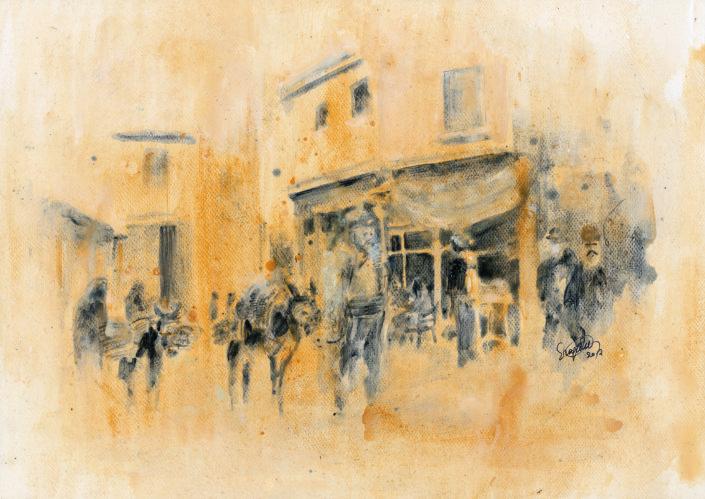 street view, 10/12 -original in possession of Lato Boutique Hotel, Heraklion, Greece)